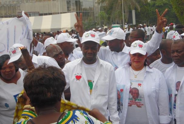 Eloi Nzondo et Sylvie Kotha