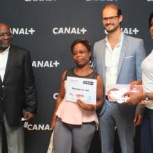 Les responsables de Canal+ Gabon et les mamans