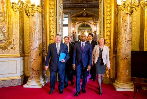 Tony Elumelu (milieu) au Sénat français