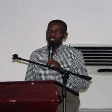 Eloi Nzondo s'adressant aux membres du Mouvement des Agences du Gabon