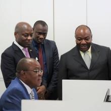 Ali Bongo Ondimba et José Mario Vaz à la ZES de Nkok