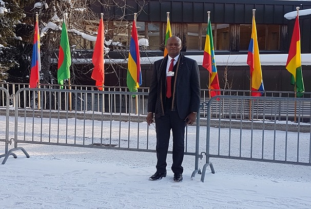 Kennedy Uzoka, le PDG du groupe UBA, à Davos