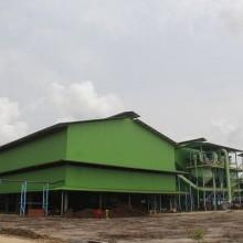 L'Usine de production d'huile de palme à Mouila