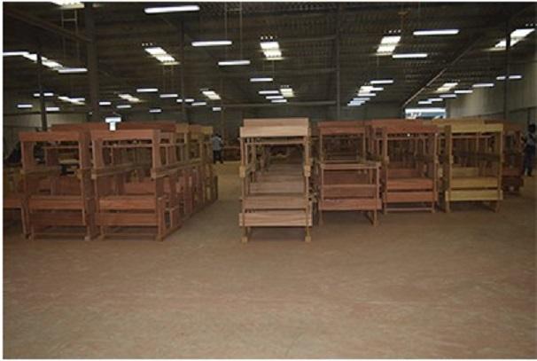 Les meubles produits par la société Gorillia In dans la ZERP de Nkok