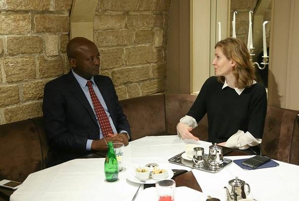 Bruno Ben Moubamba et la Députée Nathalie KOSCIUSKO-MORIZET