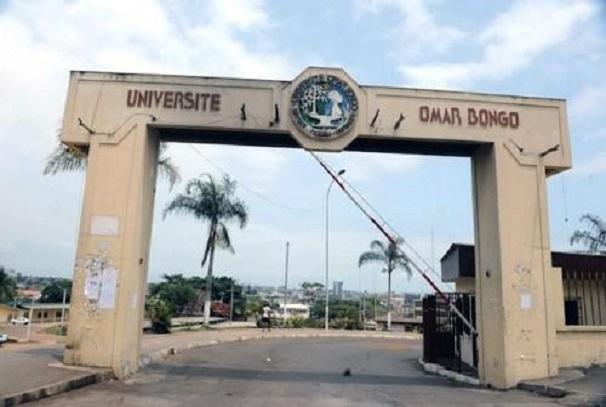 L'entrée de l'Université Omar Bongo