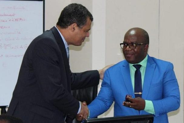 Albert Mozogo Assoumou et Massard Kabinda à l'ANBG
