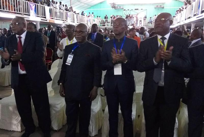 Guy Nzouba Ndama et les autres cadres de Les Démocrates