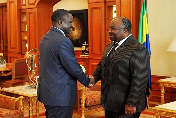 Le président Ali Bongo Ondimba et Almoustapha Garba