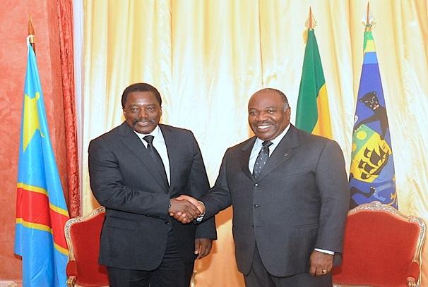Ali Bongo Ondimba et Joseph Kabila Kabange à Franceville