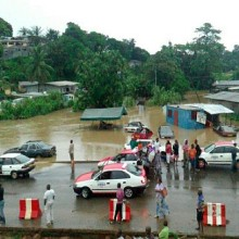 Les quartiers de Libreville inondés