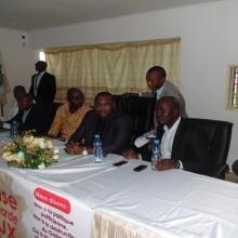 Rodrigue Maïssa Nkoma et les membres de la CJGA
