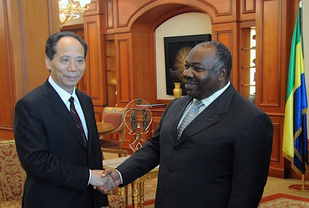 Ali Bongo Ondimba et Ji Bingxuan