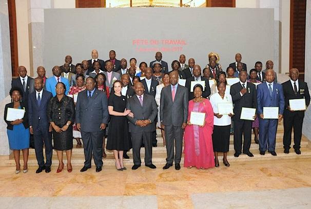 Fête du travail à la présidence du Gabon