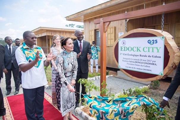 Sylvia Bongo Ondimba inaugure Edock City