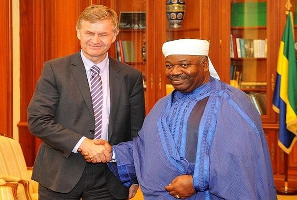 Ali Bongo Ondimba et Erik Solheim