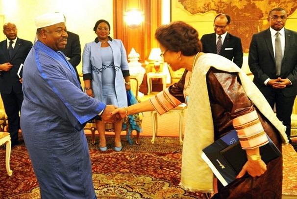 Ali Bongo Ondimba et Josefa Sacko
