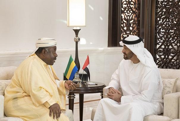 Ali Bongo Ondimba et Sheikh Mohamed Ben Zayed Al-Nahyan