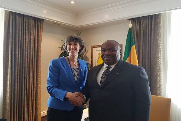 Ali Bongo Ondimba et Laura Tuck