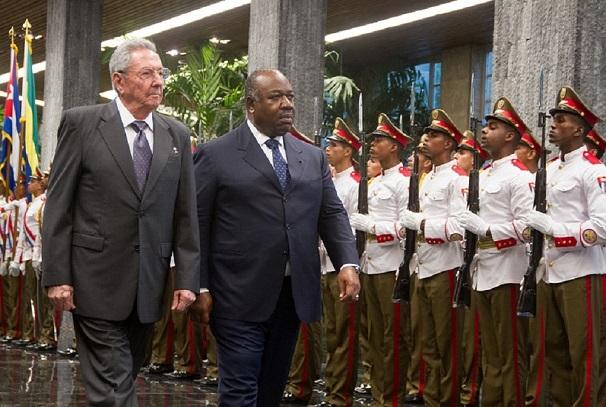 Ali Bongo Ondimba du Gabon et Raul Castro de Cuba