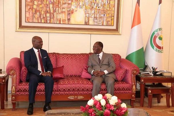 Bruno Ben Moubamba et Alassane Dramene Ouattara