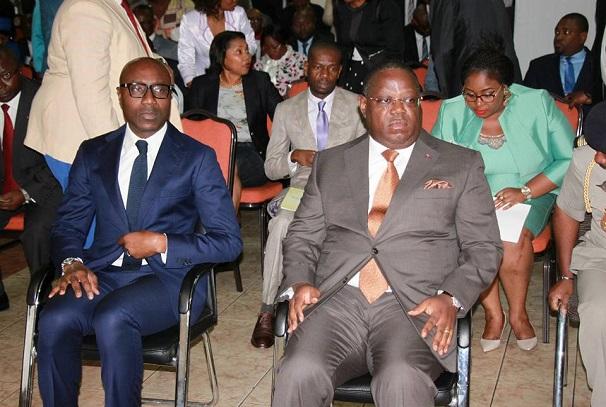 Emmanuel Issoze Ngondet au lancement du concours national de plan d'affaires