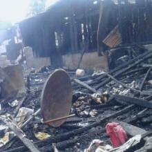 Incendie au marché d'Akébé
