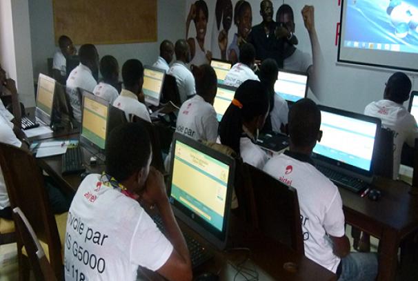 Les jeunes formés par le projet Airtel