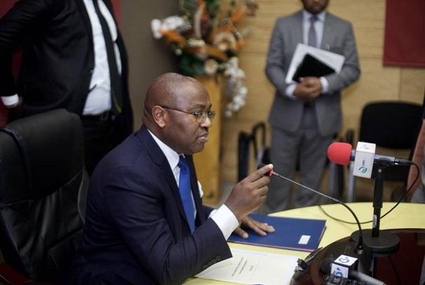 Jean-Fidèle Otandault, ministre d'Etat, ministre du budget et des comptes publics