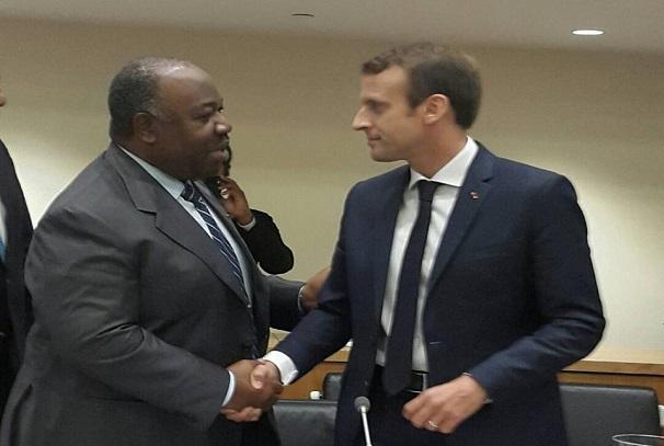 Les présidents Ali Bongo Ondimba et Emmanuel Macron, même combat