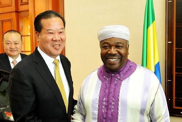 Ali Bongo Ondimba et Liu Shaoxi