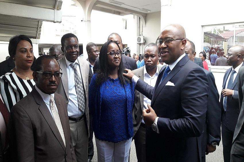 Arthur Benga Djembe, Yolande Nyonda et Jean-Fidèle Otandault