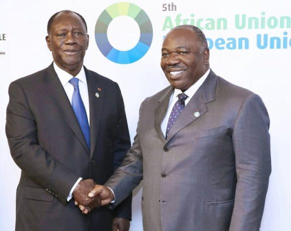 Ali Bongo Ondimba et Alassane Ouattara