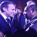 Ali Bongo Ondimba et Emmanuel Macron à Paris
