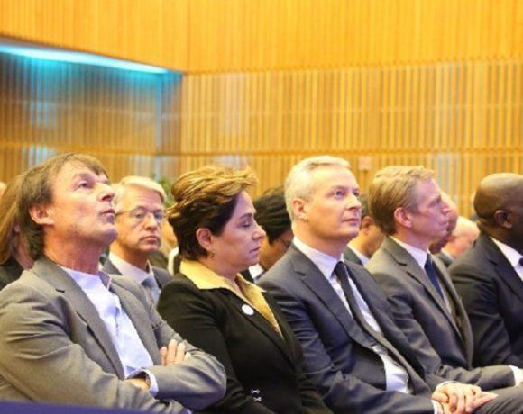 Régis Immongault et les autres ministres à Paris