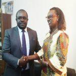 Dieudonné Minlama Mintogo et Françoise Ndayishimiye