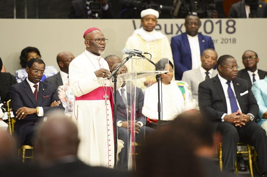 Intervention de Monseigneur Basile Mve Engone