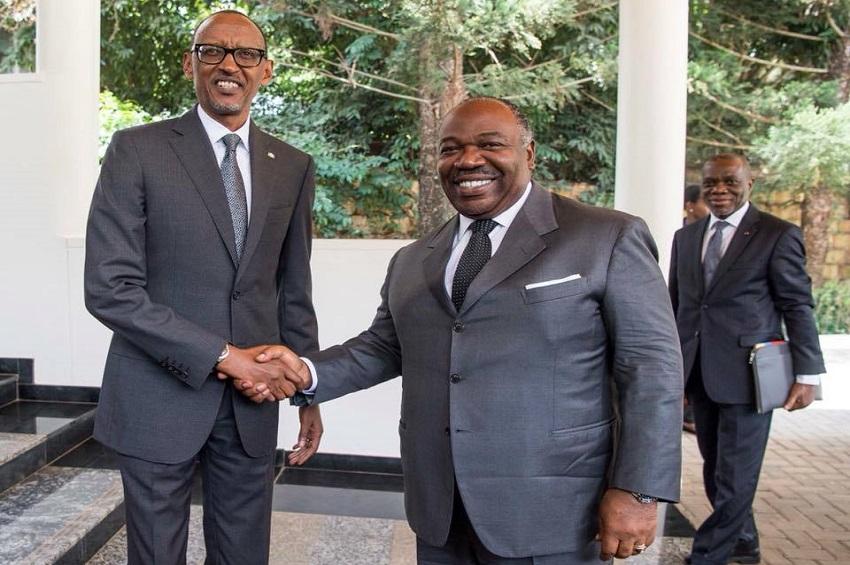 Ali Bongo Ondimba et Paul Kagame à Kigali