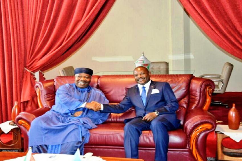 Ali Bongo Ondimba et Pierre Nkurunziza à Bujumbura