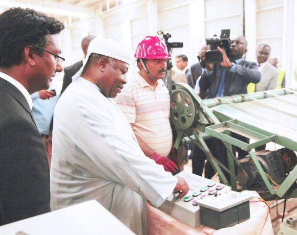 Ali Bongo a inauguré l'usine Accurate Industries