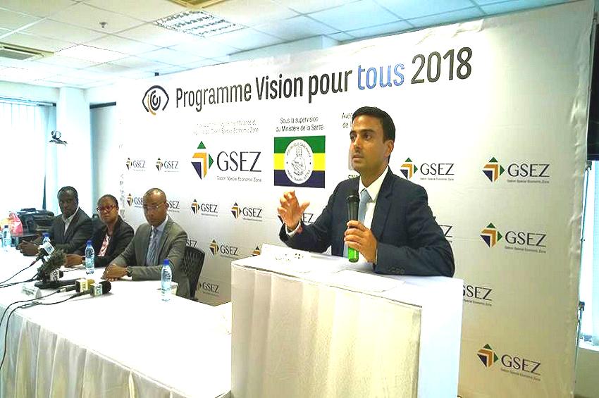 Gagan Gupta, le DG d'Olam Gabon au lancement de la caravane