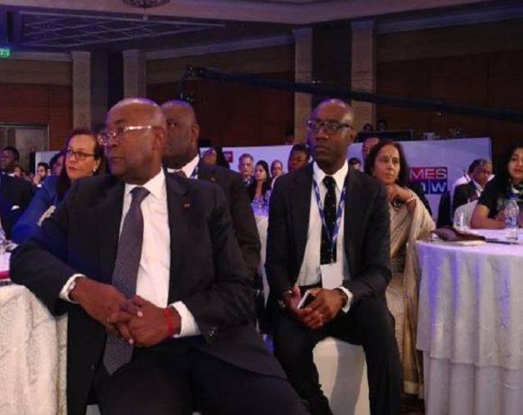 La délégation gabonaise en Inde