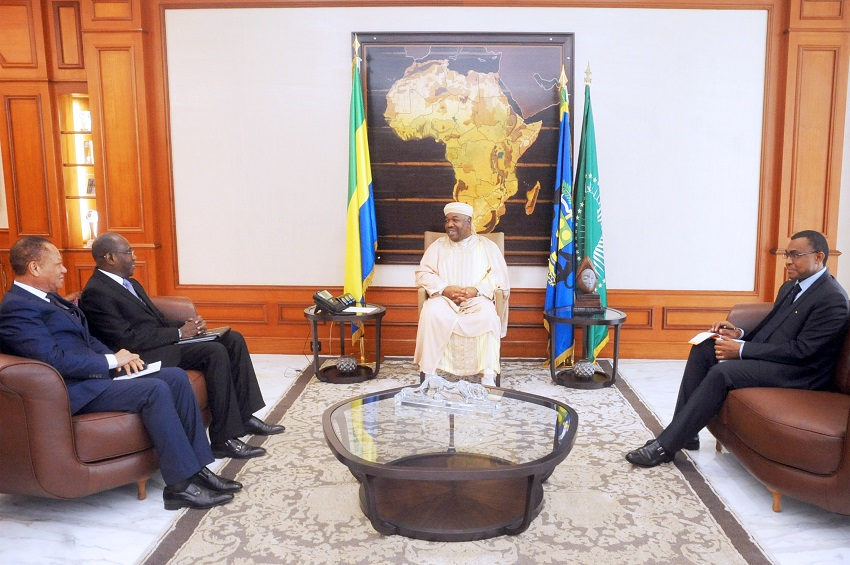 Le Président Ali Bongo Ondimba accorde une audience à Hamadoun Touré