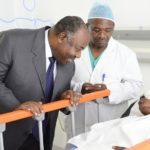 Le président Ali Bongo Ondimba au CHUO dans le cadre de l'opération vision pour tous
