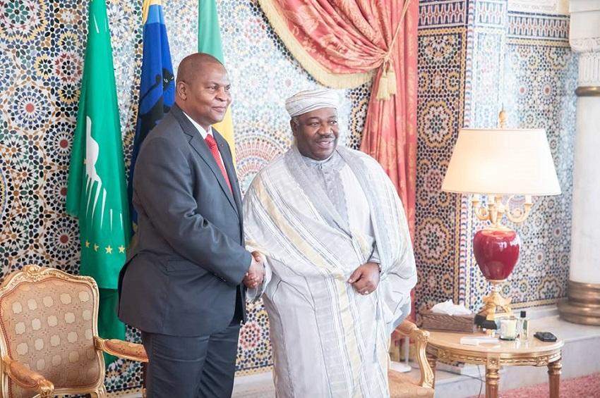 Ali Bongo Ondimba et Faustin-Archange Touadera