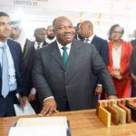 Ali Bongo Ondimba et Gagan Gupta à l'ouverture de Gabon Wood Show