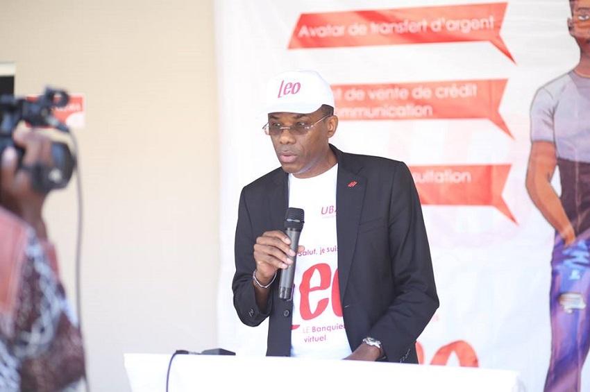 Etienne Ramba, DGA de UBA Gabon au lancement de Leo