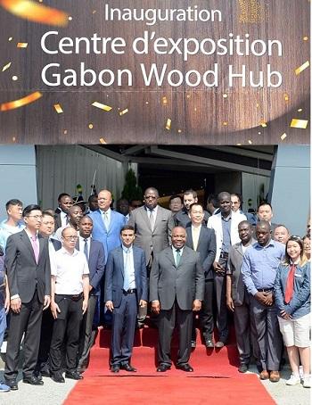 Inauguration du Centre d'exposition Gabon Wood Show