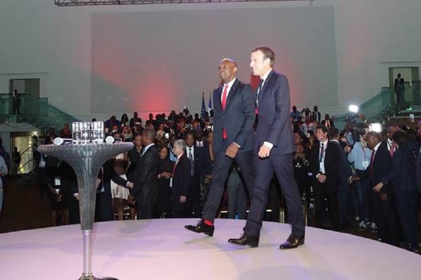Tony Elumelu et Emmanuel Macron