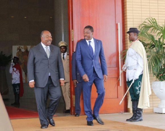 Le président Ali Bongo Ondimba à Lomé